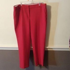 LOFT MARISSA FIT RED PANTS - 18